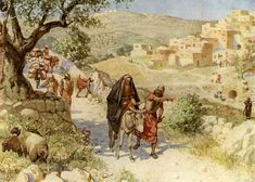 David fleeing from Absalom-  (2 Samuel 16:20 -- 19:8)