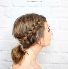 braided updo with a pony for short hair