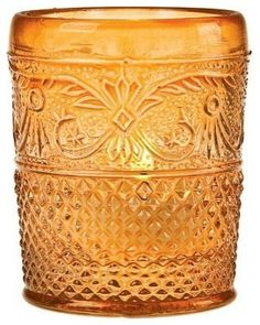 amber glass for a warm glow.