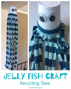 Jelly Fish Craft Recycling Tees - Teach Me Mommy