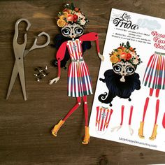 Little Frida's Dream Articulated Paper Doll 12 Tall
