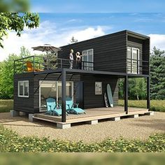 Metal container house plans and shipping container homes house plans. Modern Tiny House, Tiny House Cabin, Tiny House Plans, Tiny House Design, Modern House Design, Tiny House Living, Shipping Container Home Designs, Shipping Containers, Shipping Container Cabin