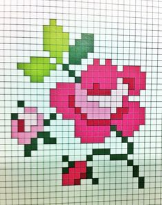 Embroidery Rose Pattern Ideas For 2019 Embroidery Hearts, Rose Embroidery, Hand Embroidery Designs, Cross Stitch Embroidery, Embroidery Patterns, Crochet Quilt, Crochet Cross, Tapestry Crochet, Cross Stitch Tree