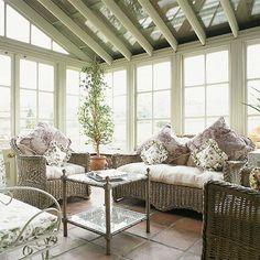Inspirational Shabby Chic Sunroom