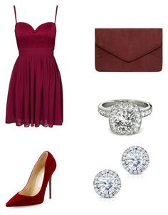 """Untitled #97"" by alexandragabriela2 on Polyvore featuring Elise Ryan, Jimmy Choo, Dorothy Perkins, Allurez and Kobelli"