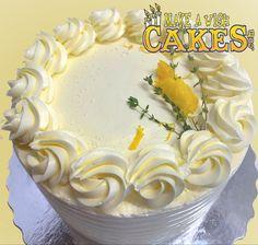 "🍋 Our Amazing Lemon Thyme Cake! FUN FACT.... ""Did you know Lemons are technically berries.""? #lemoncake #makeawishcakes"