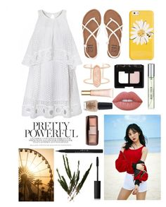 """Boys, Boys, Watch Out!"" :) by chocolatelover15 on Polyvore featuring polyvore, fashion, style, Billabong, Kendra Scott, Kate Spade, NARS Cosmetics, Lime Crime, Hourglass Cosmetics, Clarins, Stila, New Look, OPI, clothing, beach, goodluck, Mina, 2016 and aoa"