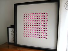 121 glossy pink personalized butterflies home by GosiaandHelena, Glossier Pink, Diy Paper, Butterflies, Projects To Try, Colorful, 3d, Unique Jewelry, Frame, Handmade Gifts