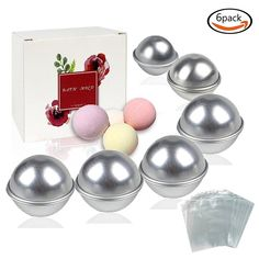 CRAFT  MISCELLANEOUS   Bulk x 12 Bath Bomb Molds & 100 Bags    FREE DELIVERY