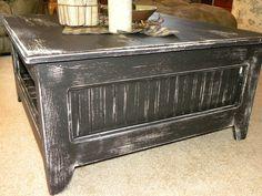 Primitive Square Coffee Table. $350.00, via Etsy.