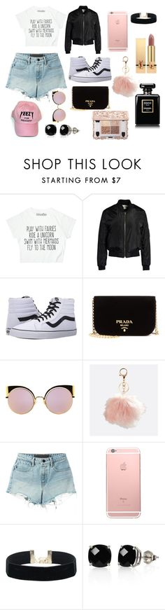 """""""Lets enjoy some fall"""" by amari-nyelle ❤ liked on Polyvore featuring Sans Souci, Vans, Prada, Fendi, Avenue, T By Alexander Wang, Belk & Co. and Yves Saint Laurent"""