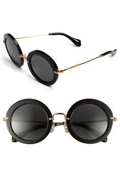 b34c92d4089d Womens Miu Miu 49mm Round Retro Sunglasses  390.00 AT vintagedancer.com Eye  Glasses