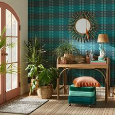 Diskus Plaid Peel And Stick Wallpaper Blue - Opalhouse™ Designed With Jungalow™ : Target Plaid Wallpaper, Wallpaper Decor, Vinyl Wallpaper, Peel And Stick Wallpaper, Living Room Decor, Bedroom Decor, Create A Signature, Shop Interior Design, Wall Patterns