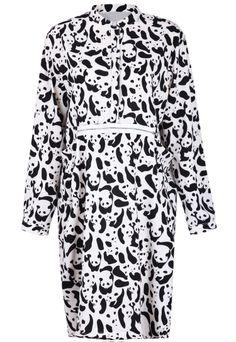 Vestido Oso manga larga-Negro y blanco EUR€23.71