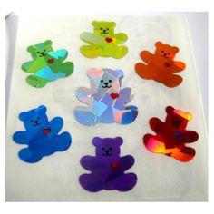 Prism teddy bear stickers