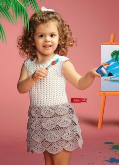 Handmade crochet summer girls dress: Different sizes, pink girl dress, summer girl dress - made to order