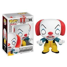 Stephen King's It Pennywise Clown Pop! Vinyl Figure It Pennywise, Pennywise The Dancing Clown, Penny Wise Clown, Scary Clown Costume, Scary Clowns, Pop Vinyl Figures, Funko Pop Horror, Suicide Squad, Funko Pop Dolls