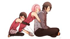Aaw ♡ Happy Family Sasuke Sarada Sakura