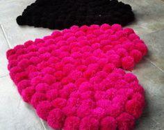 Alfombra de lana corazón