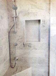 Beautiful Bathrooms With Carrera Marble white subway tile and carrara marble bathroom | stylish subway