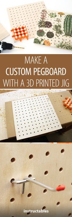 Turn anything into a pegboard organizer with this 3D-printed jig!