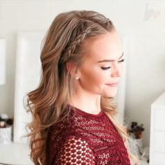 effortless hairstyles you can rock when you're in a rush 5 ~ my. effortless hairstyles you can roc. Side Braid Hairstyles, Easy Hairstyles For Medium Hair, Fancy Hairstyles, Straight Hairstyles, Side Braids For Long Hair, Single Braids, Hairstyles Videos, Long Braids, Hairstyles Men