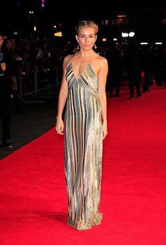 Sienna Miller wears Galvan to the Foxcatcher premiere in London, October 2014.