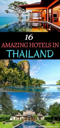 16 Amazing Hotels In Thailand. From Bangkok to Koh Samui and Phuket, Thailand has everything for that luxury traveller.