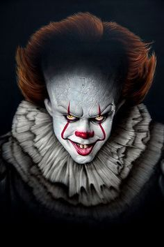 Pennywise from the Stephen King horror it. Pennywise Art by Independent Artists. Es Der Clown, Le Clown, Creepy Clown, It The Clown, Clown Horror Movie, Arte Horror, Horror Movies, Halloween Horror, Scary Movie Characters