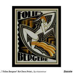 art deco - Maurice Picaud, Folies Bergere Poster, France, ca. Poster Art, Art Deco Posters, Vintage Posters, Vintage Art, Art Deco Artwork, Jazz Poster, Motif Art Deco, Art Deco Print, Art Deco Design