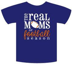 Real Moms of Football Season Team Spirit T Shirts by The Walnut Street House on Etsy, $21.00