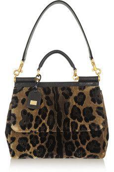 Dolce   Gabbana - Sicily ayers-trimmed leopard-print velvet tote 6a20f8b1361