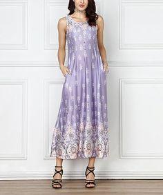 Lavender Floral Sleeveless Maxi Dress - Plus Too #zulily #zulilyfinds