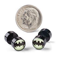 Batman Glow in the Dark Faux Plugs