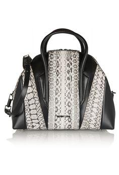 #Helmut Lang #Snake effect #Leather Shoulder Bag - on #sale 54% off @ #Outnet.com  #HelmutLang