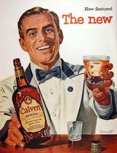 Calvert Reserve Whiskey 1954 Barkeeper - Mad Men Art: The 1891-1970 Vintage Advertisement Art Collection