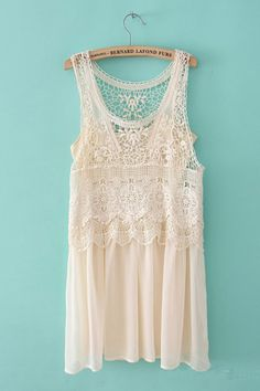 Lace Crochet Layer Vest