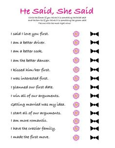 Weddings Discover Bridal Shower Versus Bachelorette Party (Whats the Difference?) This post may contains references t Wedding Shower Games Wedding Games Wedding Tips Wedding Events Dream Wedding Wedding Day Weddings Luxury Wedding Funny Wedding Programs Wedding Shower Games, Wedding Games, Wedding Tips, Dream Wedding, Budget Wedding, Wedding Venues, Luxury Wedding, Wedding Processional Order, Weddings On A Budget