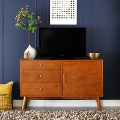 "52"" Angelo:HOME Acorn Mid-Century TV Console"