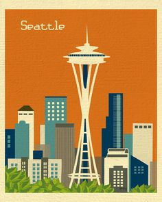 Seattle, Washington - Orange