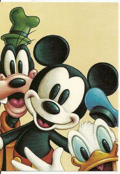 Goofy, Mickey, and Donald