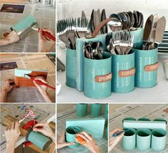 Upcycled Cutlery Caddy