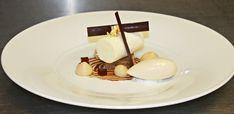"""Deconstructed Tiramisu"" Mascarpone Cream, Sponge Cake Soaked in Espresso Marsala, Espresso Foam, Tia Maria Gelee and White Coffee Gelato"