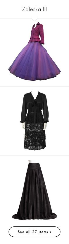 """Zaleska III"" by shulabond ❤ liked on Polyvore featuring skirts, purple, skirt suits, tweed skirt, long wool skirt, tulle maxi skirt, ball skirt, purple skirt, black and cocktail dresses"