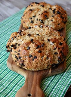 brown butter soda bread with honey- cinnamon butter - Happy St. Patrick's Day! (disclaimer: I do not own this image or linked content)