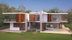Eco House - Side by on DeviantArt House Siding, My Dream, Apartments, Maya, Commercial, Exterior, Homes, Dreams, Architecture