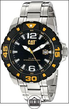 Caterpillar PT.141.11.137 - Reloj de cuarzo para hombre, correa de acero inoxidable color plateado de ✿ Relojes para hombre - (Gama media/alta) ✿