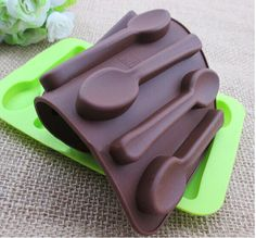 1PCS spoon silicone cake mold chocolate tools party decor bakeware baking molds