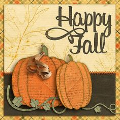 Happy Fall card.  like the edge frame on this