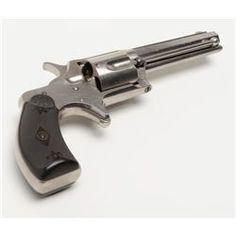 "Remington-Smoot New Model No. 3 revolver, saw-handle style, .38 cal., 3-3/4"" octagon barrel, nicke"